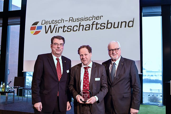 Stefan Dürr was honoured with the first SME Award of the German-Russian Economic Association